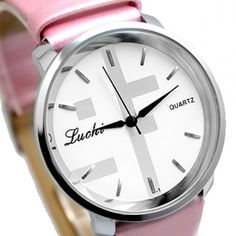 FW821C White Dial Pink Band Round PNP Shiny Silver Watchcase Women Fashion Watch