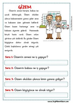 Turkish Lessons, Learn Turkish Language, Reading Passages, Grade 1, Drama, Student, Science, Writing, Humor