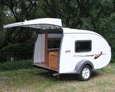 A-Van Weekender Caravan - Lightweight Camping Trailers, Small Camping Trailer, Small Camper Trailers, Airstream Campers, Tiny Camper, Camper Parts, Small Campers, Camper Caravan, Travel Trailers