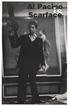 Scarface Tony Montana Al Pacinio Movie Poster 23x35