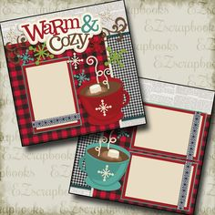 Two premade boyplay scrapbook pages