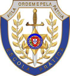 Heráldica - Brasões e Distintivos das Forças de Segurança Portuguesas: Emblema do pessoal do quadro permanente da Escola ...