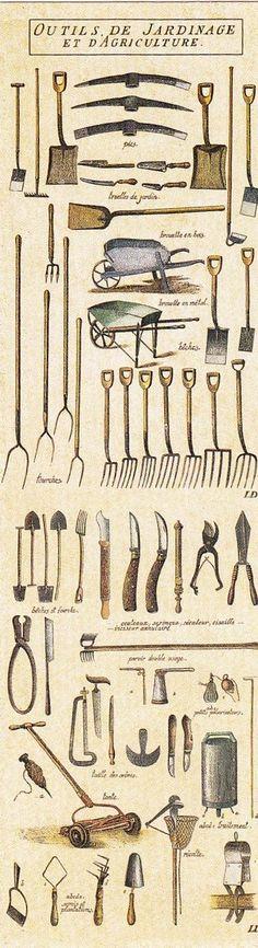 Vieux outils de jardinage / old gardening tools: