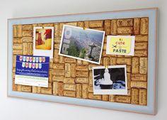 Light Blue Wine Cork Board >> http://tinyurl.com/cuteandpaste-lightblue #winecork #corkboard #pinboard