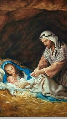 Humildad , Amor & Familia Sagrada. Catholic Pictures, Bible Pictures, Jesus Pictures, Christmas Nativity Scene, Christmas Scenes, Christian Images, Christian Art, Religious Images, Religious Art