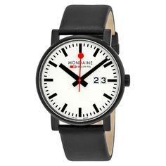 Mondaine Unisex A6273030361SBB 'Evo Big Date' Black Watch