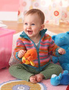 Yarnspirations.com - Bernat Zippy Jacket and Ribby Legs - Patterns | Yarnspirations. 6-24 months. Free pattern