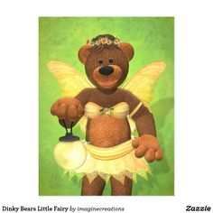 Dinky Bears Little Fairy Postcard