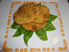 Whistle Stop Fried Green Tomatoes with Red Pepper Aioli