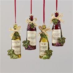 wine bottle christmas ornament christmas wine bottles glass bottle wine glass winter craft