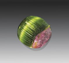 Rare Cat's Eye Bicolor Tourmaline - Himalaya Mine, Mesa Grande, California