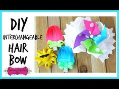 How to Make an Interchangeable Hair Bow - Hairbow Supplies, Etc. - YouTube