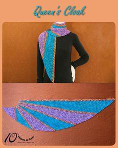 Queen's Cloak shawl in @ancientartsyarn Merino/Nylon Fingering & Merino Lace [crochet in 10 hours] @stitchcraftm