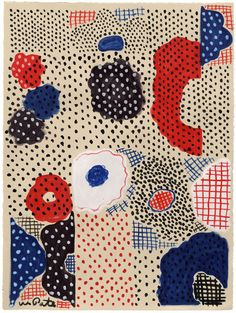 Wayne Pate-Composition With Dots (SOLD)