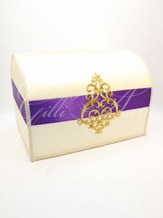 Свадебная казна для денег Gilliann Purple Queen BOX062, http://www.wedstyle.su/katalog/anniversaries/wedding-box-money, #wedstyle, #свадебныеаксессуары, #сундучокдляденег, #свадебныйсундучок, #weddingbox