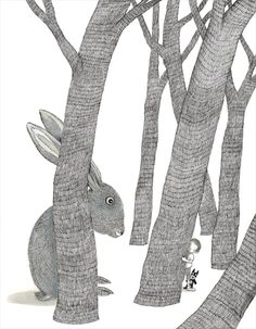 Illustration from 'Secrets in the Woods' by Jimmy Liao –published by Locus Publishing