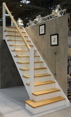 Dallas Cut String Staircase with Glass Stepped Balustrade Glass Handrail, Oak Handrail, Glass Stairs, Glass Balustrade, White Staircase, Staircase Railings, Stairways, Staircase Ideas, Bannister