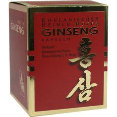 ROTER GINSENG 300 mg Kapseln:   Packungsinhalt: 200 St Kapseln PZN: 02755642 Hersteller: allcura Naturheilmittel GmbH Preis: 53,36 EUR…