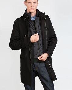 Image 2 of DIAGONAL COAT from Zara