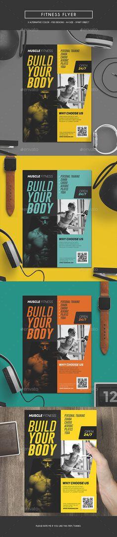 Fitness Flyer Template PSD. Download here: http://graphicriver.net/item/fitness-flyer/16823649?ref=ksioks