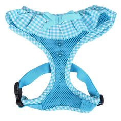 Puppia® Vivien Ruffle Dog Harness at PetSmart. Shop all dog harnesses online Pet Dogs, Dog Cat, French Bulldog Harness, Cat Leash, Animal Crossing Qr, Dog Hoodie, Blue Gingham, Shelter Dogs, Training Your Dog