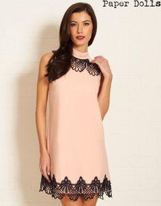 Paper Doll Lace Frill Shift Dress