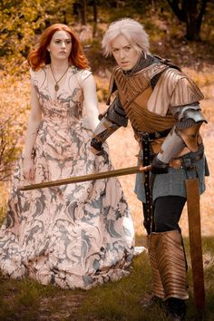 Cosplay of Brienne of Tarth and Sansa Stark (Game of Thrones).  I'm the Brienne, Sansa is Claire (cosmicandlove.tumblr.com).  I made the Brienne costume myself over the winter of 2013-14.  Claire's dress was made by professional NYC costumer Carly Bradt (hailohandmade.tumblr.com).  Thanks to Mark Baker for the photo!