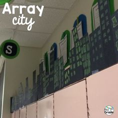 Array city is a great way to have students practice their multiplication facts and then put them on display!