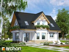 Náš vysnívaný ♡♡♡ na jar začíname - Album užívateľky Bungalow House Design, Tiny House Design, Modern House Design, Villa Design, Facade Design, Architecture Design, Cottage Plan, Cottage Homes, Sims 4 House Plans