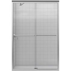 KOHLER Fluence H x to W Frameless Bypass/Sliding Matte Nickel Shower Door at Lowe's. The Fluence bypass shower door features a Eurostyle Frameless design with Crystal Clear In.