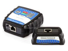 Quick RJ-45 Network Cable Tester: This Monoprice cable tester is designed to troubleshoot RJ45 LAN cables, both UTP and STP. It not only tells you if the cable passes or fails the test, it indicates which pins fail and whether they are open, shorted, or crossed. This allows you to easily see if the cable is your problem and what you need to do to fix it, if it is.