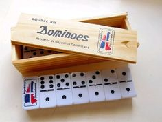 Dominican Republic Country Flag Engraved Dominoes Double Six
