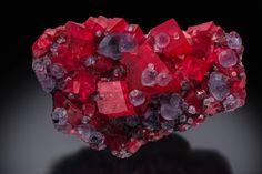 Rhodochrosite with Fluorite - Mini-King Raise, Sweet Home Mine, Alma, Colorado, USA Size: 14.2 x 9.6 x 5.0 cm