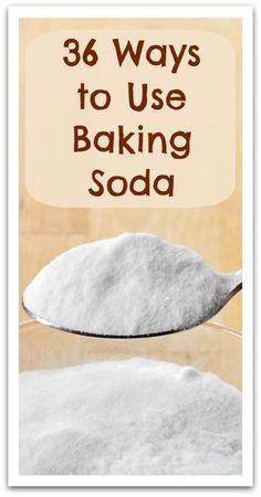 36 Ways to Use Baking Soda - Natural Holistic Life #bakingsoda #natural #holistic