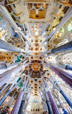 Roof of the Church of the Sagrada. Pictures just can't convey the unusual and stunning beauty of this church. I hope to see it for myself someday.