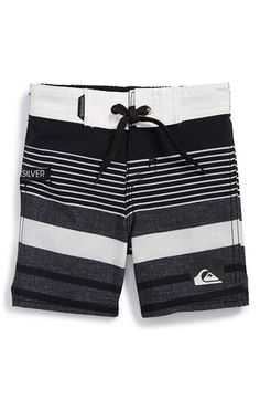 Quiksilver Stripe Board Shorts (Baby Boys) available at #Nordstrom