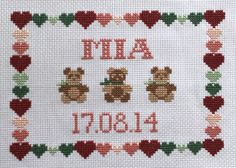 Nursery Wall Decor - Cross Stitch Nursery - Cross Stitch Wall Decor by Simplistitch on Etsy