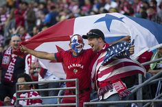 Fans from Panama and the U.S. come together before the start of Tuesday's World Cup qualifier. Photo by Dean Rutz / The Seattle Times