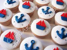 CUPCAKERIA ROSA - Cupcakes em Curitiba: Cupcakes Navy - Cupcakes Náuticos