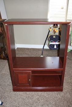 From tv cabinet to flat screen console @Denise Cherry-Szewczul you should show this to Kara?