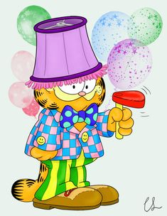 See you at the party? June 19th is  a special day because it's Garfield's birthday! by lambini on deviantART
