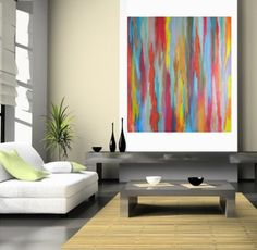Large Contemporary Original Modern Abstract  Wall by LenDickson, $175.00