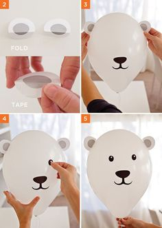 DIY Polar Bear Balloons Tutorial