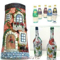 Trabajos de las alumnas de la #asociacionculturalargoiak nos queda una semana para las vacaciones  ✴Teja: Mari Jose✴ ✴Botellas: Rosa Mari✴ #handmade #diy #teja #tejarustica #casa #botellas #decoupage #decopatch #cristal #deco #reciclado #handmade #rooftile #roof #handmadepaint #handmaderooftile #vintage #glass #recycling #recicled #chalkpaint #vitral #home #arcilla #manualidades #eskulanak #pasta #elbuhodecloe #clay #policlay