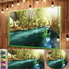nice Designart 'Beautiful Small River in Forest' Landscape Metal Wall Art Check more at http://hasiera.co.uk/s/furnishings/product/designart-beautiful-small-river-in-forest-landscape-metal-wall-art/