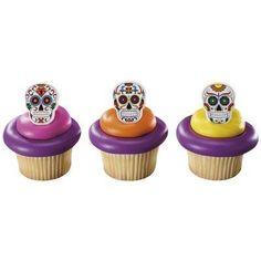 Day of the Dead Dia de Muertos Skeleton Cupcake Rings - 24 pcs Bakery Supplies http://www.amazon.com/dp/B00KHAPL2U/ref=cm_sw_r_pi_dp_nFlVwb06XRFW7