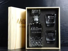 Ideal mens gift, for your groomsmen, your buddy or Christmas gifts for dad? What says more about your good taste than an engraved whiskey decanter