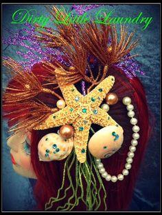 Mermaid Headband, mermaid costume, Ariel little mermaid, Costume, Sea Shells, Peals, Ocean Goddess,Headdress. $115.00, via Etsy.