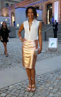 Pin for Later: Die Stars machen Berlin zum Mode-Mekka bei der Fashion Week Annabelle Mandeng bei einem Event