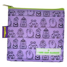 I Have Food Allergies Snack Bag - These AllerMates snack packs are a great way to alert canteen / school staff to your child's allergies. Kids Allergies, Medicine Bag, Snack Bags, Canteen, Pill Boxes, Purple Bags, Safe Food, Our Kids, Lunch